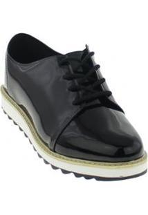 Sapato Infantil Oxford Molekinha Verniz Feminino - Feminino-Preto