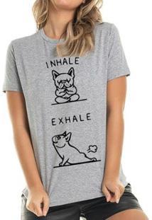 Camiseta Exhale Buddies Feminina - Feminino-Mescla
