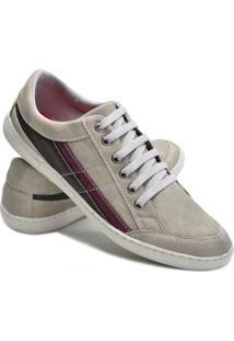 Sapatênis Dec Shoes Com Cadarço Masculino - Masculino-Cinza Claro
