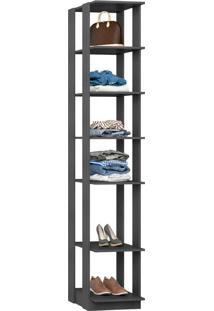 Closet Modulado C/ Prateleiras Clothes 410 – Be Mobiliários - Espresso