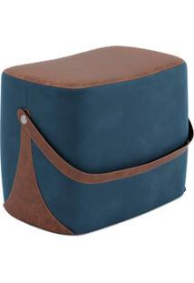 Puff Bag Azul E Marrom
