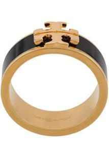 Tory Burch Logo Ring - Preto