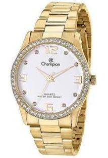 Relógio Feminino Champion Analógico Resistente Á Água - Cn29043H - Feminino-Dourado