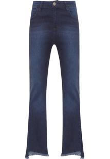 Calça Jeans Feminina Reta - Azul