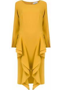 Olympiah Vestido Midi 'Chipre' - Amarelo