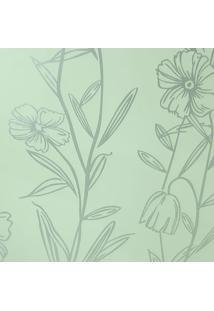 Papel De Parede Fwb Lavável Floral Prateado Perolado