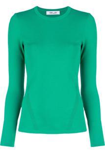 Diane Von Furstenberg Blusa Decote Arredondado - Verde