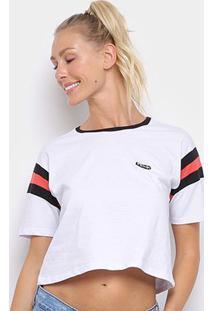 Camiseta Cropped Volcom Faded Friend Feminina - Feminino