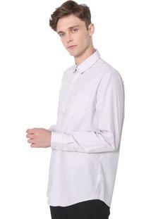 Camisa Lacoste Regular Xadrez Laranja/Cinza