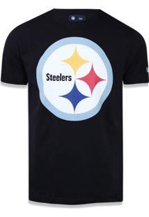 T-Shirt New Era Basico M/C Pittsburgh Steelers Preto