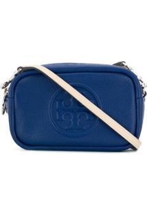 Tory Burch Bolsa Com Logo Gravado - Azul