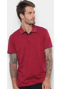 Camisa Polo Watkins&Krown Detalhe Gola Masculina - Masculino-Bordô