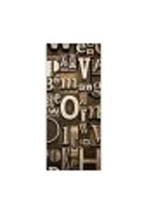 Adesivo Decorativo De Porta - Tipografia - 051Pt-P Auto Colante