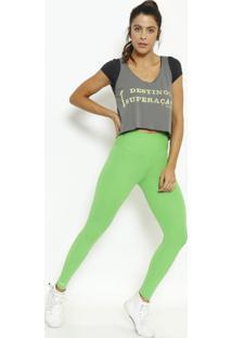 """Regata """"Destino: Superação"""" - Cinza Escuro & Verde- Physical Fitness"""