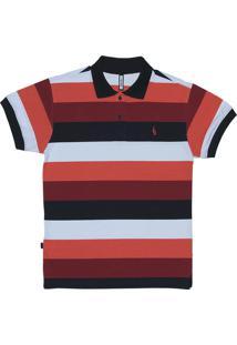 Camisa Polo Simple Skateboard Gola Glib Vermelha
