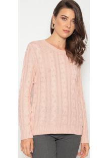 Suéter Em Tricô - Rosêdudalina