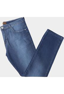 Calça Jeans Preston Plus Size Classica Cintura Alta Masculina - Masculino