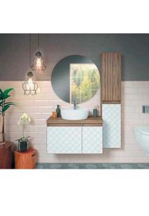 Gabinete Para Banheiro Mônaco 80X46Cm Sem Cuba Terracota Darabas