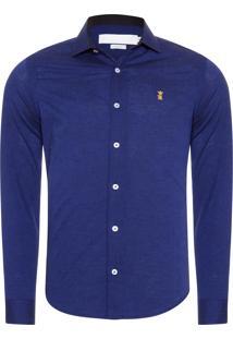 Camisa Masculina Oxford - Roxo