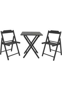 Jogo De Mesa Com Cadeiras Beer- Tabaco- 3Pã§S- Trtramontina