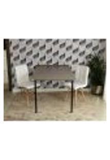 Conjunto De Mesa Dobrável Retrátil 1,40 Volpi + 2 Cadeiras Gomos - Branca