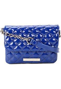 c86a0fcb4 R$ 159,99. Zattini Bolsa Feminina Azul Marinho Santos Verniz Matelassê  Minibag ...