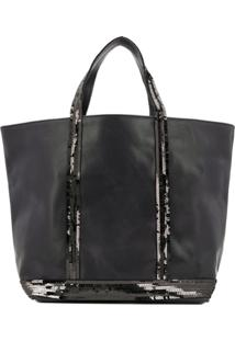 Vanessa Bruno Sequined Tote Bag - Preto