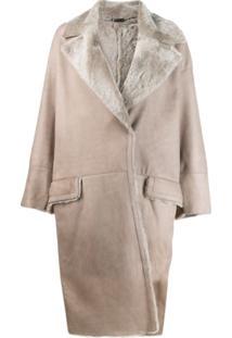 Manzoni 24 Trench Coat Oversized - Cinza