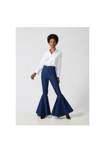 Calça Godê Bruto Blue-Amapô Jeans