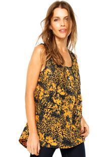 Regata Ellus Leopard Floral Amarela