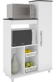 Gabinete De Cozinha Para Forno E Fruteira Yara 1 Pt Branco