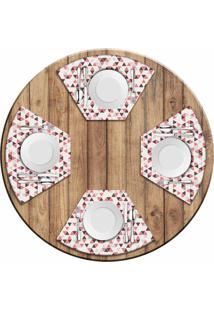 Jogo Americano Love Decor Para Mesa Redonda Wevans Multi Triângulos Kit Com 4 Pçs - Kanui