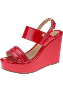 Sandã¡Lia Anabela Domidona Tiras Verniz 105.29.012 - Vermelha Vermelho - Vermelho - Feminino - Dafiti