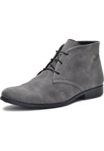 Bota Cano Curto Mine Shoes Cinza