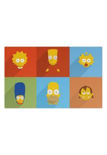 Jogo Americano (Kit 4 Unidades) Nerderia E Lojaria Simpsons Minimalista Grande Colorido