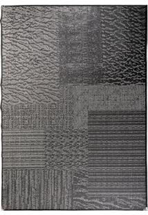 Tapete Sisllê Abstrato Viii Retangular Polipropileno (133X190) Preto