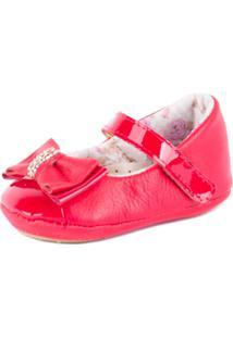 Sapatilha Ortopé Com Velcro Vermelho - Feminino-Vermelho