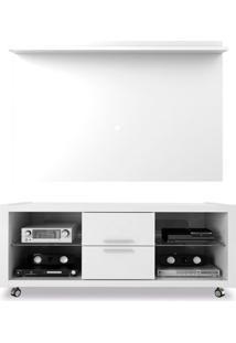 Rack Tauro Com Painel Para Tv Até 60 Polegadas Feel Branco 180 Cm