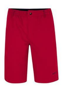 Bermuda Pierre Cardin Pierre Cardin Bolso Masculina - Masculino-Vermelho