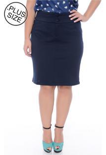 ef3448e2f5 Saia E Mini Saia Azul Marinho Plus Size feminina