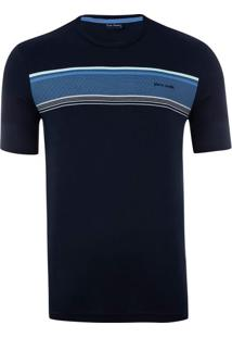 Camiseta Gola Careca Print Navy