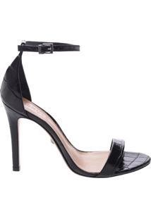 Sandália Gisele Croco Black | Schutz