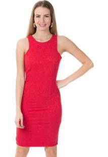 Vestido Abertura V Nas Costas Vermelho