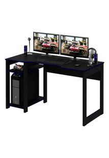 Mesa Gamer Reversível Me4152 Preto E Azul - Tecno Mobili