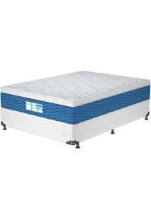 Cama Box Casal Prodormir Blue – Probel - Branco / Azul