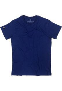 Camiseta Stoned Lisa Masculina - Masculino-Azul