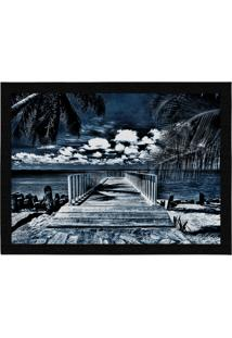 Capacho - Tapete Colours Creative Photo Decor - Pier Azul Cinza