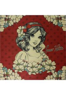 Quadro Decorativo Branca De Neve® - Vermelho & Branco