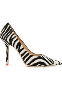 Jimmy Choo Sapato Love Com Estampa De Zebra E Salto 100Mm - Preto