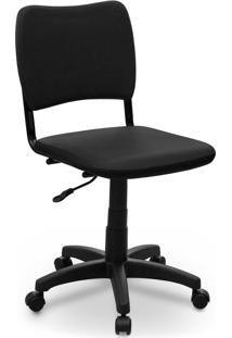 Cadeira Giratã³Ria Estofados Atena S/ Braã§O Preta - Preto - Dafiti
